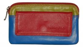 Lederen Burkely multicolor sleutelhouder rood