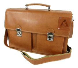 Laptoptas old-school 15,6 inch cognac