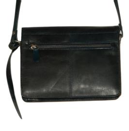 Lederen Luxe classic tas blauw middel