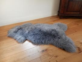 Lederen Schapenvacht grijs