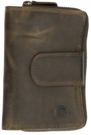 Leder Groen Rits model portemonnee