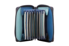 Lederen burkely multi wallet blauw