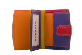 Lederen Burkely multi wallet rood