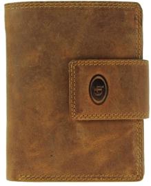 Leder Cognac Hoog model portemonnee