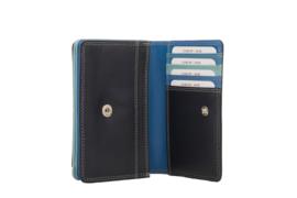 Lederen Burkely multi wallet Monica klein blauw