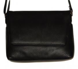Lederen Luxe classic tas zwart 07