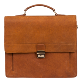 Burkely Scott Briefcase 2-comp - Cognac