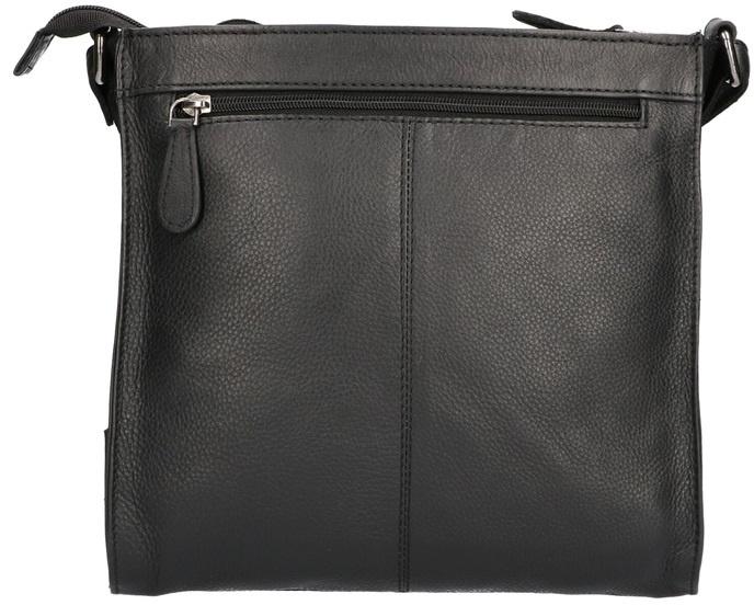 Nappa klassiek Leder tas zwart