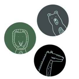 Wall circles set - Animals