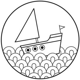 Muurcirkel - Bootje