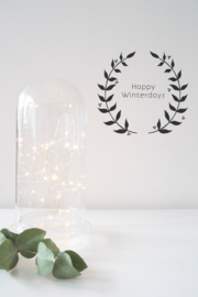 Kerst sticker - One Color Leaves