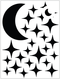 Dollhouse stickers | Mini moon with sparkling stars