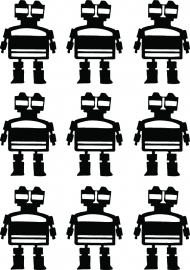 Muurstickers - Robbie Robot | small pack