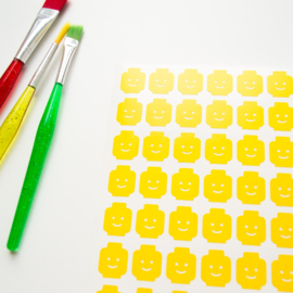 Sticker - Lego head - small