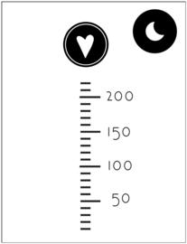 Poppenhuis stickers - Mini groeimeter