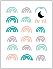 Poppenhuis stickers - Mini regenboogjes