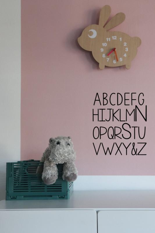 Muursticker - ABC