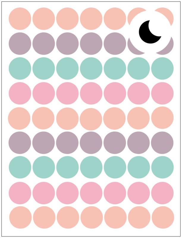 Dollhouse stickers | Mini confetti dots pastel