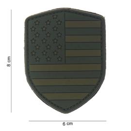 Patch PVC Amerikaanse Vlag Schild