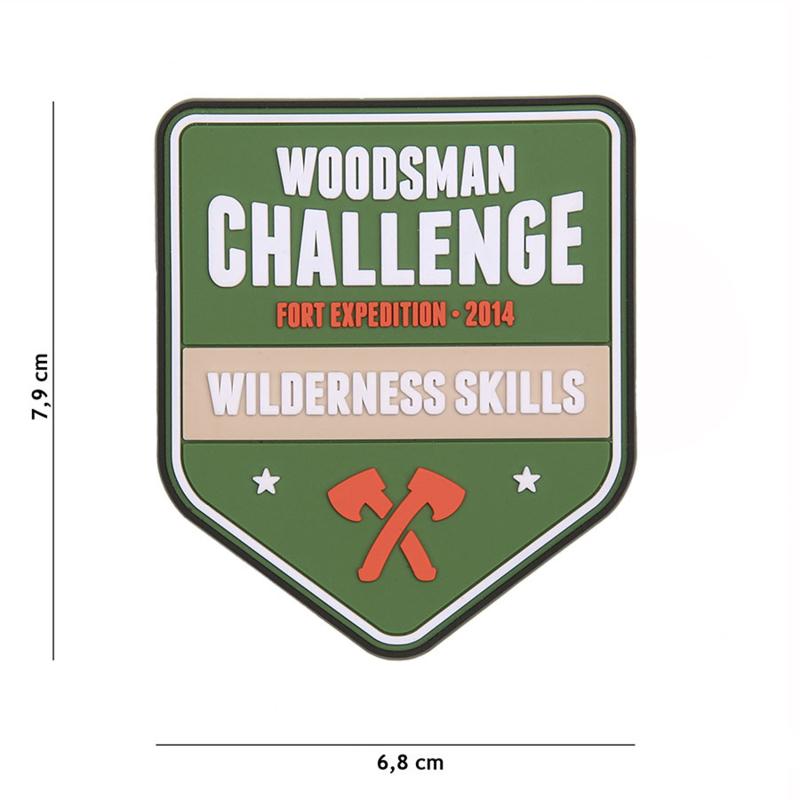 Embleem PVC Woodsman Challenge