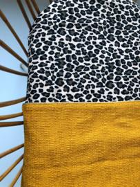Velvet Meets Gold, Hoeslaken wieg - Panter bruin