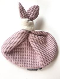 Knoopkonijn - Teddy creme /oud roze wafel