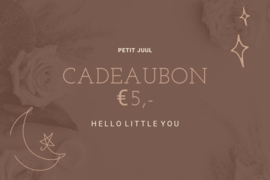 Kadobon € 5