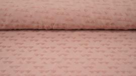 Badstof tricot oud roze bergje