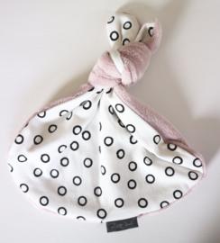 Knoopkonijn - Black bubble/oud roze