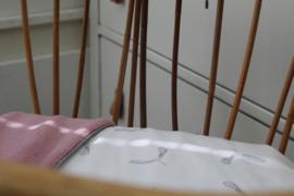 Ledikantdeken propeller- teddy roze