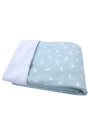 Stroller blanket - Green bean/White teddy