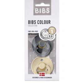 BIBS Set/2 speentjes iron/beige T1
