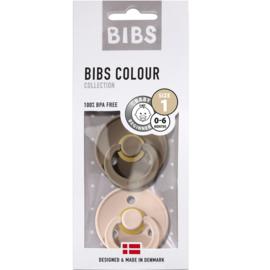BIBS BiBS set/2 speentjes dark oak/blush T1