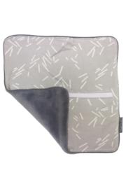Pacifier cloth - Grey confetti/White blue teddy