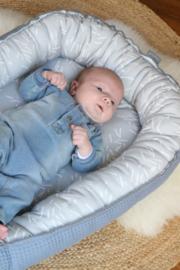 Daily Dream Babynestje grey confetti/ oud blauwe wafel