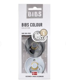 BIBS Set/2 speentjes cloud/smoke T1