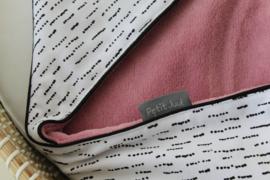 Wikkeldoek funky stripes - teddy roze