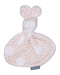 Knot rabbit - Pink dot/Cream teddy
