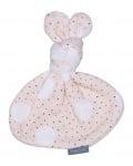 Knoopkonijn - Pink dot/Cream teddy
