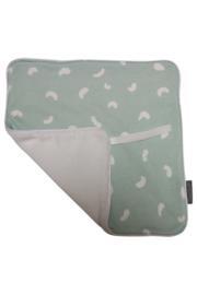 Pacifier cloth - Green bean/White teddy