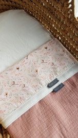 Lakentje ledikant soft pink boho