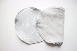 Spuugdoek - badstof grijs/ grey confetti