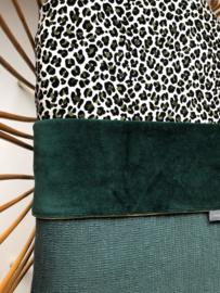 Peuter hoeslaken - Panter groen