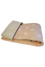 Stroller blanket - Pink dot/Cream teddy