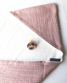 Wikkeldoek Mother Nature Dusty Pink/ Soft badstof creme