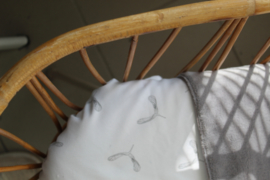 Wiegdeken propeller- teddy grijs
