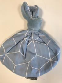 Knoopkonijn -  Teddy blauw/deco 3D blauw