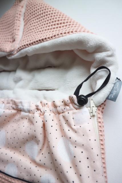 Daily Dream Maxicosi zak - Zalm wafle/Pink dot