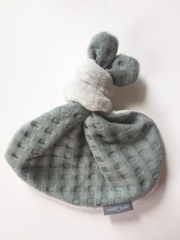 Knoopkonijn - Teddy licht grijs  /klei wafel XL