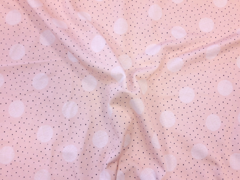 French Terry Pink dot